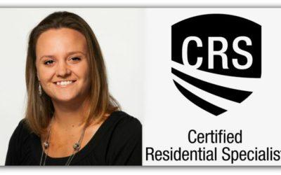 Congratulations to Jennifer Elkins on CRS Designation